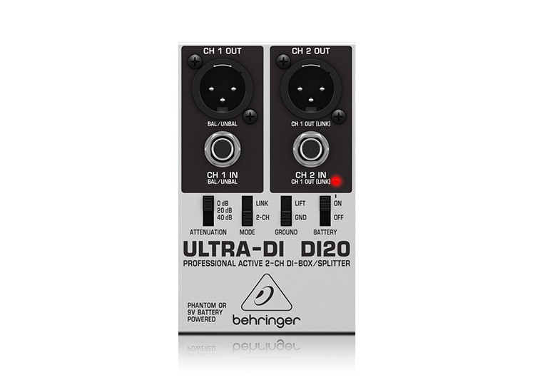 ULTRA-DI DI20 Professional Active 2-Channel DI-Box